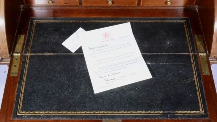 La carta de disculpas que Lady Di le envió a su guardaespaldas antes de morir