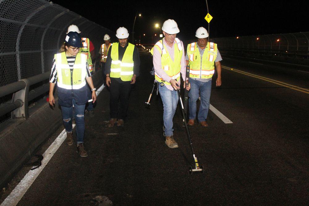 Trabajos en la losa del puente de  Las Américas son provisionales