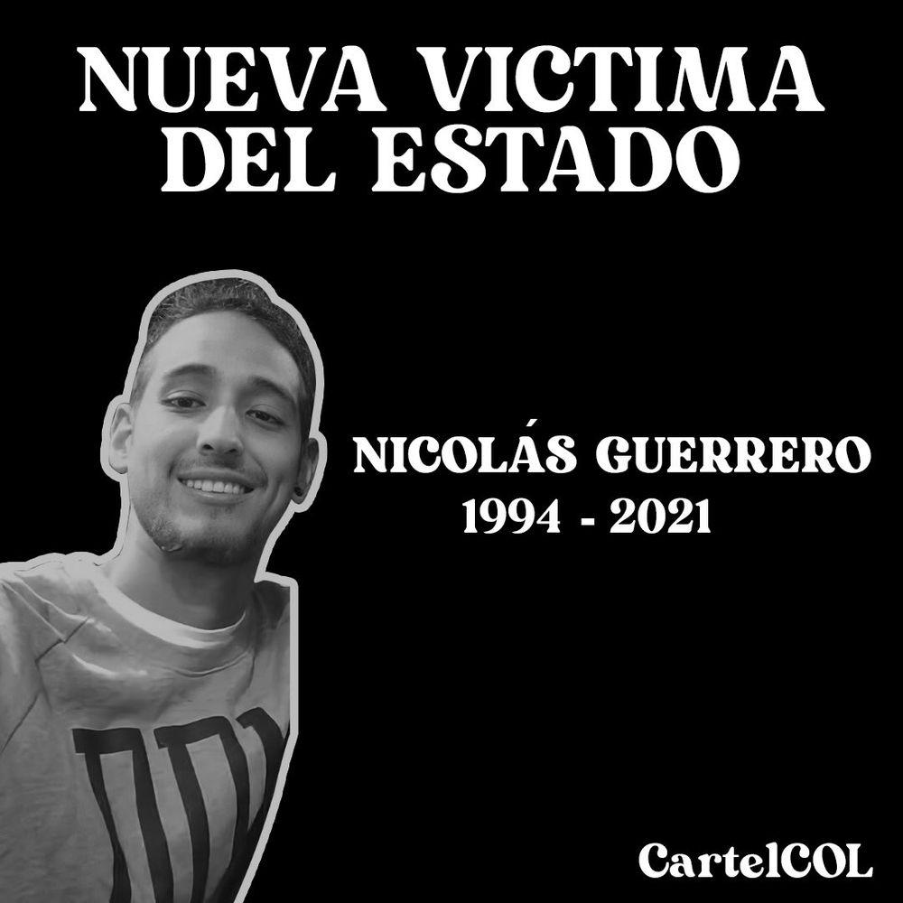 Nicolás Guerrero, el joven que fue asesinado en Cali en medio de un live
