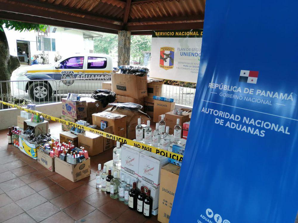 Decomisan licor, cigarrillos y municiones en Chepo