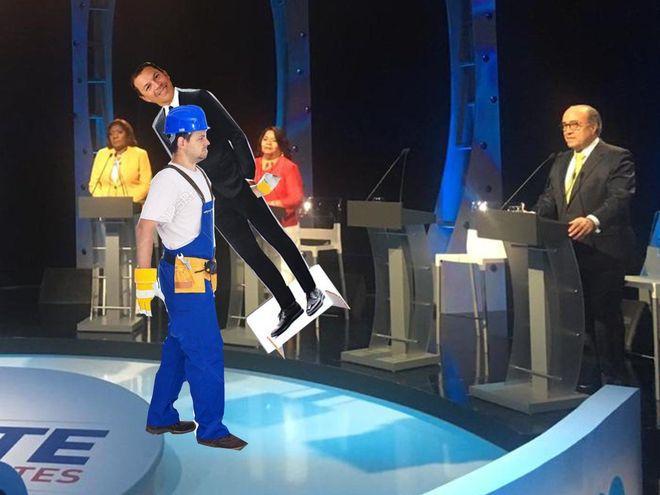 'No tengo miedo',dijo de lejos. Debate de vicepresidentes se da sin Luis Casís