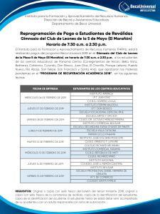 Este es el calendario de entrega de Beca Universal para estudiantes de reválida