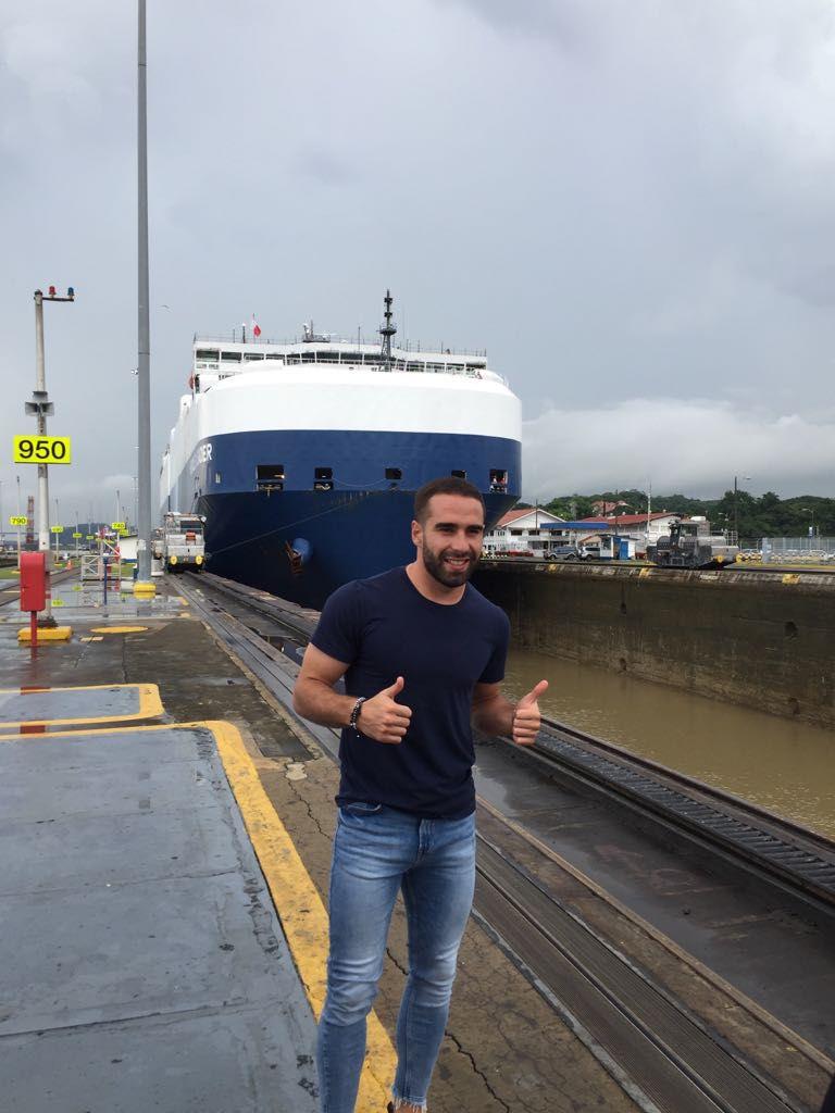 Jugador del Real Madrid ya está en Panamá y admira el Canal
