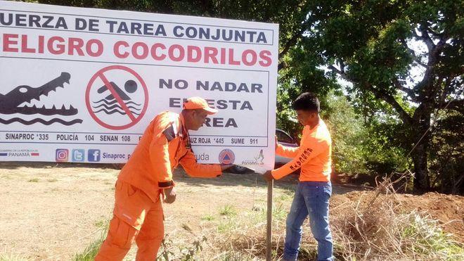 NO SE META A LOCO. Cocodrilos siguen sueltos, no vaya a este río