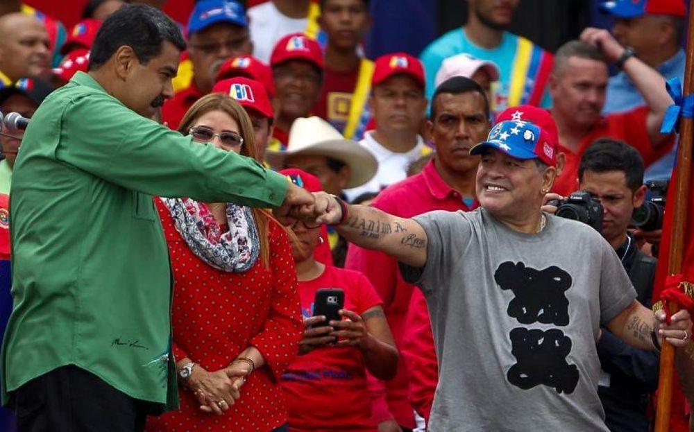 Maradona ratifica respaldo a Maduro contra 'el imperialismo'