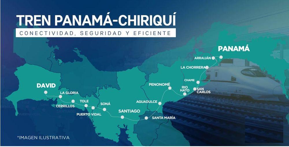 Te diremos cuáles serán las paradas que tendrá el tren que va hasta Chiriquí