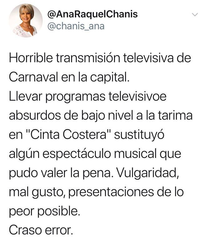 ¡UPS! Critican transmisión de Carnavales en TV, la califican de horrible