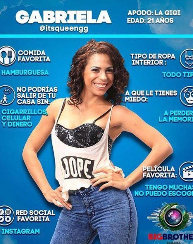 Gigi Picota confiesa que pareja tuvieron relaciones en la casa de Big Brother