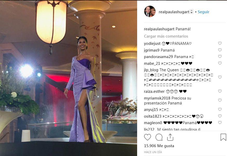 La panameña Rosa Montezuma llama la atención de presidenta del Miss Universo