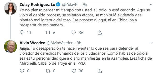 """Fueeeerte. 'Salió huyendo, Zulay. No aguantó las cuatro verdades"""", asegura Alvin Weeden"""