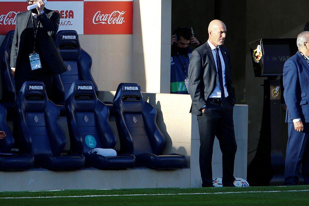 Zidane da la cara por luego del empate del Real Madrid con el Villarreal en la Liga Española