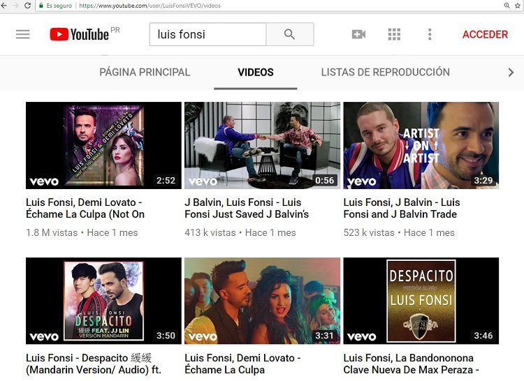 ¡Áyala vida!Hackean YouTube y hacen desaparecer a 'Despacito' y todas sus vistas
